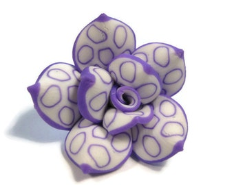 25mm Polymer Clay Rose Beads Set of Three (R18)