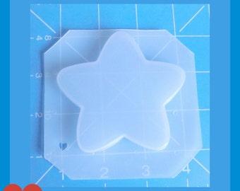 "Kawaii Large 3"" Star  handmade  Plastic Resin Mold"