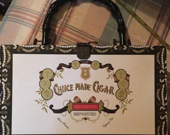 Choice made cigar box purse