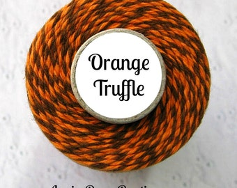 Thanksgiving Bakers Twine by Trendy Twine - Orange Truffle (Orange and Brown Bakers Twine), Autumn, Fall