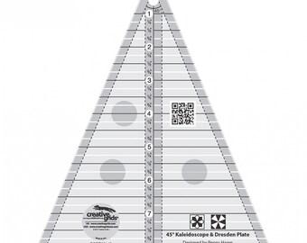 Creative Grids Kaleidoscope or Dresden Plate Triangle # CGRTKAL45