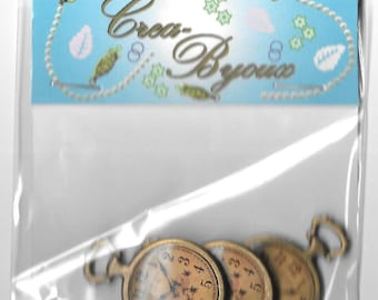 Craft Embellishments. Steampunk type watches (3 in pack)-Crea-Byoux