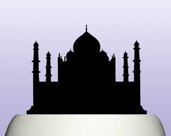 Acrylic Taj Mahal Indian Cake Topper Decoration