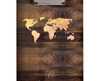 Custom Clipboard Designs [World Map]
