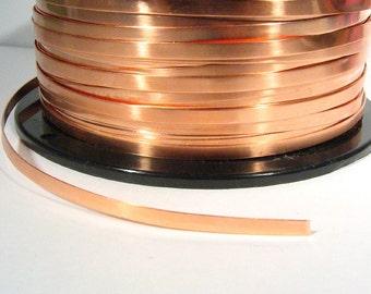 Copper Bezel Wire - 1/8 Inch - 24 Gauge - Choose Your Length