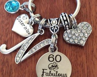 60th Birthday, 60th Birthday Gifts For Women, 60th Birthday Gifts For Mom, Mom 60th Gifts, 60 & Fabulous, 60 years old Birthday Gift