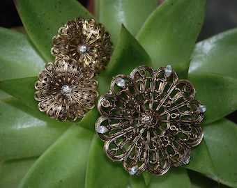 original by Daisheim   Earrings and Pin,,vintage Jewelry