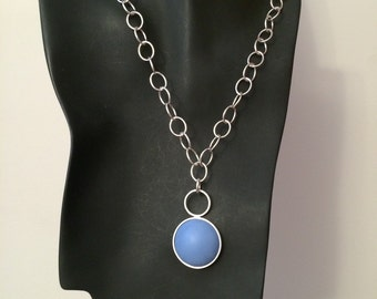 Enamel And Sterling Silver Necklace