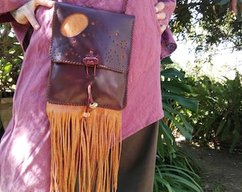 BAG LEATHER HIPPIE