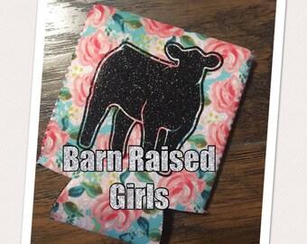 Sale******Shabby Flower Glitter Show Heifer