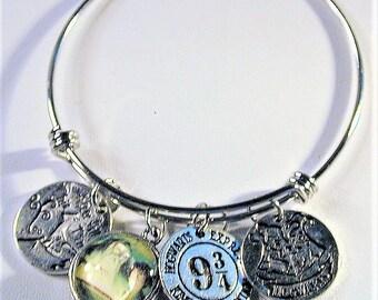 Harry Potter Inspired Bangle Charm Bracelet #3