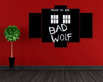 Time Lord canvas, Bad wolf, Tardis, Doctor Who, Bad wolf canvas, Doctor Who art, Tardis art, Doctor Who print, Tardis wall art, Tardis print