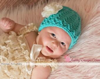 Crochet Pattern Spiral Twist Beanie (Newborn - Adult) - PDF - Instant Digital Download