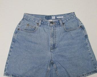 Women's Vintage Liz Claiborne High Waisted Denim Mom  Shorts Size 8