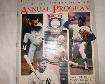 1992 Hall of Fame induction ceremony program Cooperstown NY Rod Carew