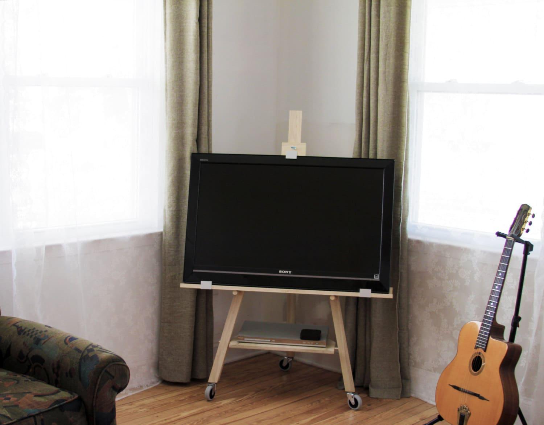 Meuble Tv Chevalet Fr Ne Massif # Meuble Tv Chevalet