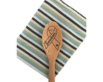 Cancer SURVIVOR-Cancer Awareness Ribbon-Cancer Support Ribbon-Personalized Spoon-Custom Spoon-Wooden Spoon-Gift Under 15-FREE Shipping