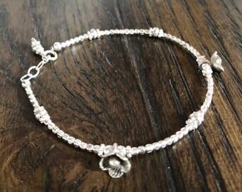 Bali Sterling Silver Flower Bracelet