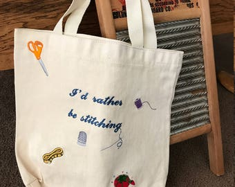 Canvas Tote-Stitching