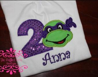Ninja Turtle GIRL Birthday shirt