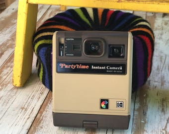 Vintage 80's camera/ Kodak Party Time Instant Camera/ Polaroid type instant camera/ retro camera