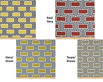 """Curtain valance 50x16"""" Swavelle Westlock curtain accessories window treatments cornice pelmet swag red yellow grey taupe brown green black"""