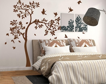 "01395 ""Shadows of the woods"" Wall Stickers Decoration trees"