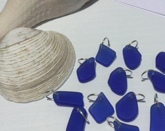 Sea Glass Charm~ Add A Sea Glass Charm~ Add Beach Glass Drop Charm~ Seaglass Tiny Pendant charm ~ Beach Glass Jewelry ~ Drilled Blue Glass