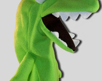 Alligator Hand Puppet Pattern with Movable Mouth
