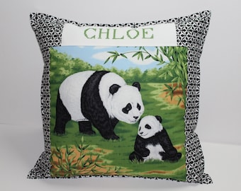 RESERVED custom panda Cushion cover not for sale