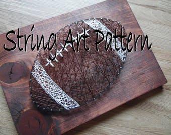 Football String Art Pattern, String Art Pattern, Football String Pattern, String Art Football Pattern, Sports String Art Pattern, Football