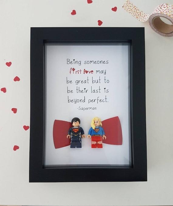 Superman Gift Superwoman Wonderwoman Lois Lane Lego Wedding /