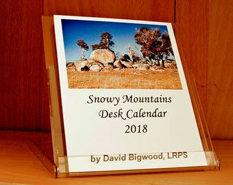 Snowy Mountains Desk Calendar 2018