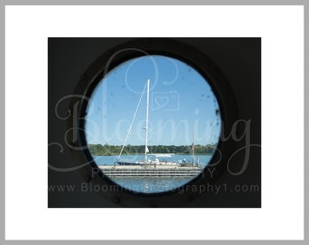 """11x14 Matted Print of """"Through a Port Hole"""""""