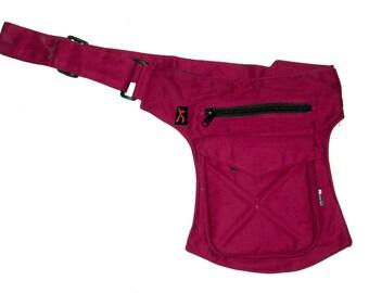 SOFT COTTON MODEL - Utility belt marsupio pocket festival travel holster borsa cintura pouch hipbag fondina tracolla tasca portadocumenti