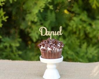 Custom name cupcake topper, birthday cupcake topper, graduation cupcake topper, birthday party decor, birthday celebration, custom name