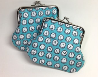 Kisslock Coin Purse - Typewriter Keys