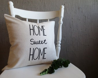 Throw Pillow - Home Sweet Home Pillow Cover, Cushion Cover, Pillow Covers, Home Decor, Home Pillow, Promise Gifts, New Home Decor, Farmouse
