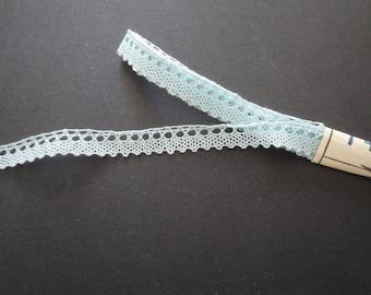 Thin blue cotton lace crochet