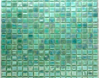 Glass mosaic shower Italian Rainbow Green