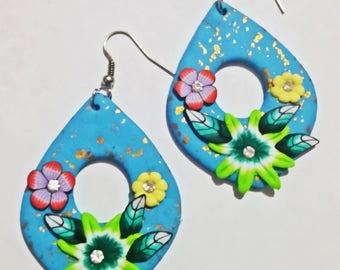 Baumeln und Drop Ohrringe aus Fimo