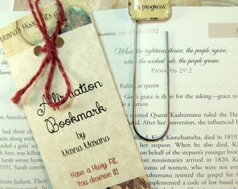 Affirmation Bookmark Mantra Positive Saying Bookmark for Book Reading Lovers I am a novel in progress gift for teen mothers friends