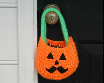 Pumpkin Crochet Pattern - Fall Crochet pattern - Halloween Crochet Pattern PDF INSTANT DOWNLOAD