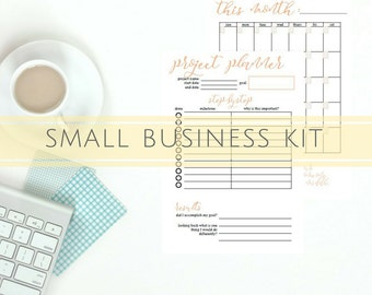 Small Business Planner Printable, Printable Project Planner, Social Media Planner Printable, Monthly Insert, Daily Planner Page, PDF