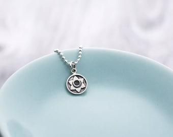 Sacral Chakra Necklace, Chakra Jewelry, Sterling Silver, Yoga Necklace, 2nd Chakra, Zen Jewelry, Chakra Pendant, Yogi Gifts, Second Chakra