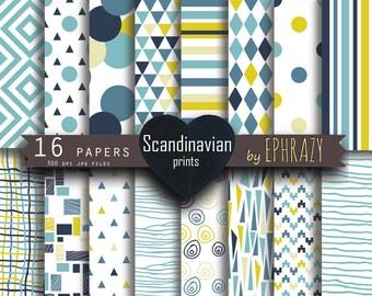 Digital paper. Scandinavian digital paper. Scandinavian print. Scandinavian. Modern print. Modern digital paper.