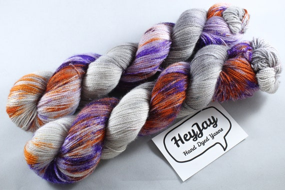 Hand Dyed Sparkle Sock Yarn - Genie in a Bottle