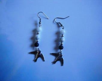 Flight in winter earrings