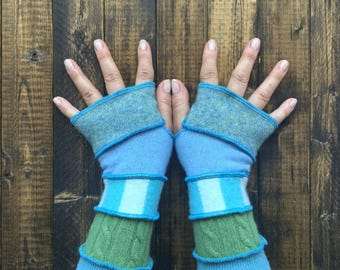 Fingerless Gloves Made from Recycled Sweaters