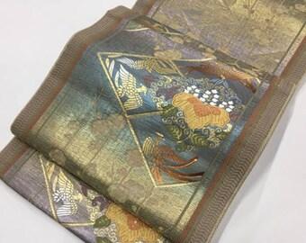 Silk Obi from Kamakura